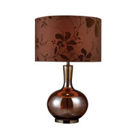 Fairview 25 inch 150 watt Bronze And Coffee Plating Table Lamp Portable Light