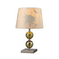 Dimond Sharon Hill 1 Light Table Lamp in Vivi Green and Polished Nickel D1610