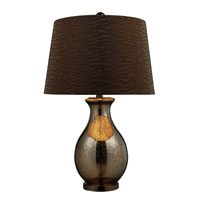 Dimond Carlisle Table Lamp in Antique Mercury and Black Nickel with Tawney Wave Shade and Slate Grey Faux Silk Liner D1715