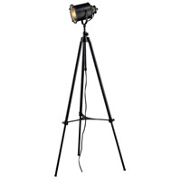 Ethan 63 inch 60 watt Restoration Black Floor Lamp Portable Light in Incandescent