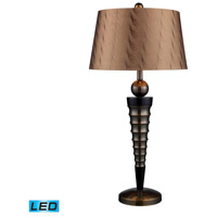 Laurie 35 inch 13.5 watt Dunbrook And Dark Wood Table Lamp Portable Light in LED