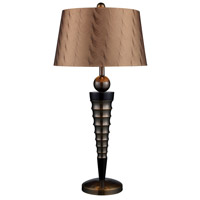 Dimond Laurie 1 Light Table Lamp in Dunbrook and Dark Wood D1738 photo thumbnail