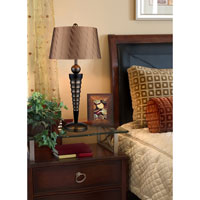 Dimond Laurie 1 Light Table Lamp in Dunbrook and Dark Wood D1738 alternative photo thumbnail