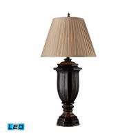 Dimond Lighting Belmont 1 Light Table Lamp in Italian Black With Bronze Highlights D1753-LED