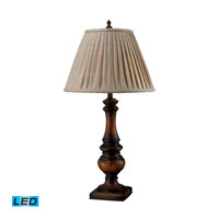 Dimond Lighting Winthorpe 1 Light Table Lamp in Zen Walnut D1754-LED