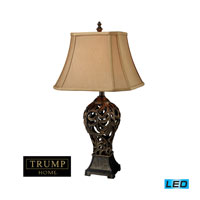Dimond Lighting Trump Home Mar-A-Lago Allegra 1 Light Table Lamp in Buthan Bronze D1757-LED