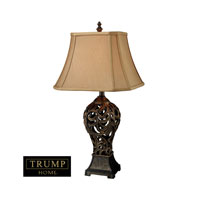 Allegra 30 inch 150 watt Buthan Bronze Table Lamp Portable Light in Incandescent, Trump Home