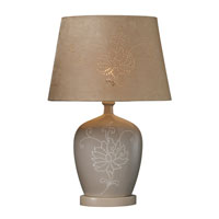 Dimond Piquette Table Lamp in Sand with Oval Sand Faux Suede Shade with Laser Cut Detail D1764 photo thumbnail