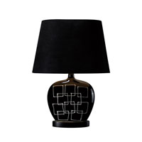 Dimond Capelle 1 Light Table Lamp in Gloss Black D1766