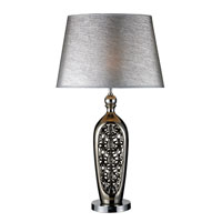 Dimond Aldine Table Lamp in Alisa Silver with Silver Streak Shade D1769