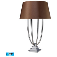 Dimond Lighting D1804-LED Harris 34 inch 13.5 watt Chrome Table Lamp Portable Light in LED