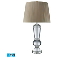 Castlebridge 33 inch 13.5 watt Clear Crystal Table Lamp Portable Light in LED