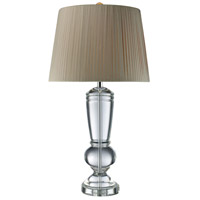 Castlebridge 33 inch 150 watt Clear Crystal Table Lamp Portable Light in Incandescent