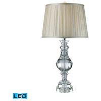 Donaldson 32 inch 13.5 watt Clear Crystal Table Lamp Portable Light in LED