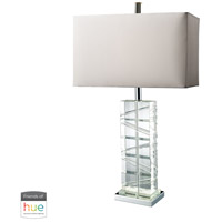 Dimond Lighting D1813-HUE-D Avalon 23 inch 60 watt Chrome with Crystal Table Lamp Portable Light photo thumbnail