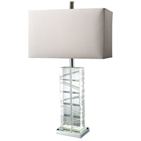 Dimond Lighting D1813 Avalon 23 inch 150 watt Chrome and Crystal Table Lamp Portable Light in Incandescent