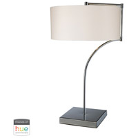 Dimond Lighting D1833-HUE-B Lancaster 22 inch 60 watt Chrome Table Lamp Portable Light