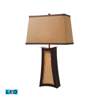 Dimond Lighting Convergence 3 Light Table Lamp in Wood And Natural Linen D1834-LED