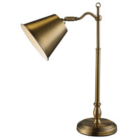 Hamilton 19 inch 60 watt Antique Brass Desk Lamp Portable Light