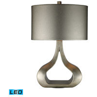 Carolina 26 inch 13.5 watt Silver Leaf Table Lamp Portable Light in LED