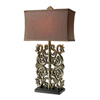 Dimond Brinkhaven 1 Light Table Lamp in Clearwater Silver D1843