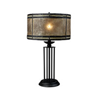 Mica Filagree 23 inch 60 watt Antique Black Table Lamp Portable Light