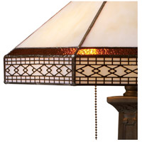 Dimond Lighting D1858 Stone Filigree 24 inch 60 watt Tiffany Bronze Table Lamp Portable Light alternative photo thumbnail
