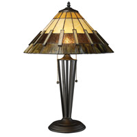 Porterdale 23 inch 60 watt Tiffany Bronze Table Lamp Portable Light in Incandescent