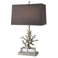 Dimond Covington 1 Light Table Lamp in Polished Nickel and Clear Crystal D1867