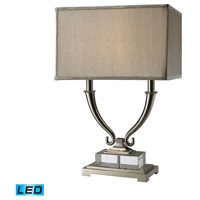 Roberts 24 inch 13.5 watt Polished Nickel And Clear Crystal Table Lamp Portable Light in LED
