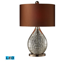 Sovereign 23 inch 13.5 watt Antique Mercury Glass With Coffee Plating Table Lamp Portable Light in LED