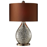 Sovereign 23 inch 100 watt Antique Mercury Glass with Coffee Plating Table Lamp Portable Light in Incandescent