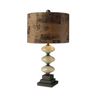 Dimond Brantley 1 Light Table Lamp in Cream and Matte Grey D1890
