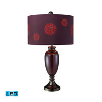 Dimond Lighting Vienna 1 Light Table Lamp in Plum Glass And Black Chrome D1894-LED