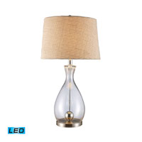 Dimond Lighting Longport 1 Light Table Lamp in Clear Glass And Chrome D1975-LED