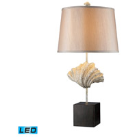 Dimond Lighting Edgewater 1 Light Table Lamp in Oyster Shell And Dark Bronze D1976-LED