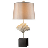 Edgewater 29 inch 150 watt Oyster Shell and Dark Bronze Table Lamp Portable Light in Incandescent