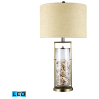 Millisle 29 inch 13.5 watt Antique Brass And Clear Glass Table Lamp Portable Light in LED