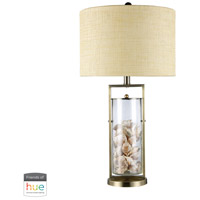 Dimond Lighting D1978-HUE-D Millisle 29 inch 60 watt Antique Brass with Clear Table Lamp Portable Light