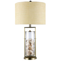 Dimond Millisle 1 Light Table Lamp in Antique Brass and Clear Glass D1978