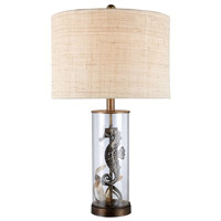 Largo 26 inch 150 watt Bronze and Clear Glass Table Lamp Portable Light in Incandescent