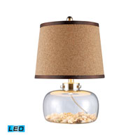 Dimond Lighting Margate 1 Light Table Lamp in Clear Glass And Shells D1981-LED
