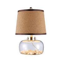 Margate 20 inch 150 watt Clear Glass and Shells Table Lamp Portable Light in Incandescent