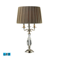 Deshler 28 inch 13.5 watt Polished Nickel And Clear Crystal Table Lamp Portable Light in LED