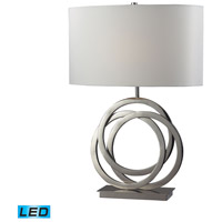Trinity 25 inch 13.5 watt Polished Nickel Table Lamp Portable Light in LED