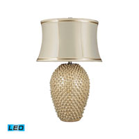 Dimond Lighting Pineville 1 Light Table Lamp in Pearlescent Cream D2112-LED
