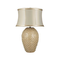 Dimond Pineville 1 Light Table Lamp in Pearlescent Cream D2112