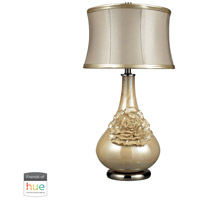 Dimond Lighting D2115-HUE-D Eleanor 27 inch 60 watt Pearlescent Cream Table Lamp Portable Light