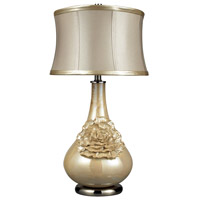 Dimond Eleanor 1 Light Table Lamp in Pearlescent Cream D2115