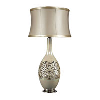 Dimond Lake Worth 1 Light Table Lamp in Pearlescent Cream D2119